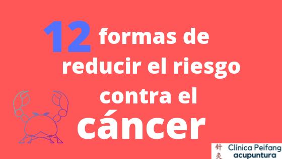 Es el banner de la portada del artículo las 12 formas de reducir el riesgo contra el cáncer