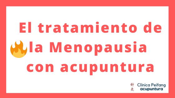 Es el banner del artículo de menopausia tratada con acupuntura hay una imagen de una llama viva muy bonita